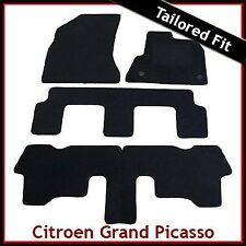Citroen C4 Grand Picasso Mk1 2006-2013 Tailored Fitted Carpet Car Mats BLACK