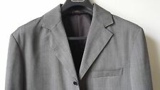 IVANO BIAGI 3 BUTTON SUIT, GRAY HERRINGBONE SIZE 42R /36 MADE IN ITALY MSRP $409
