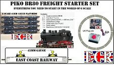 PIKO BR80 G SCALE ELECTRIC, 45MM GAUGE TRACK & NQD FLAT BEDS  LIKE LGB BACHMANN