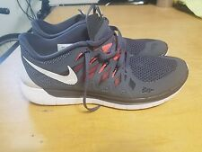Men's Nike Free 5.0 Sample shoes sz 10 Grey/orange