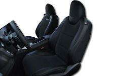CHEVY CAMARO 2010-2015 BLACK IGGEE S.LEATHER CUSTOM FIT FRONT SEAT COVERS TG