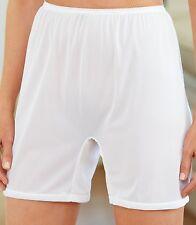 3 Pair Size 7 Long Leg Nylon Tricot No Cotton Crotch Panty