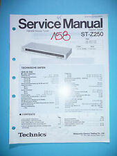 Service-Manual per Technics st-z250, ORIGINALE