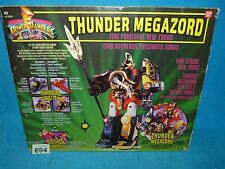 POWER RANGERS MIGHTY MORPHIN  MMPR THUNDER MEGAZORD BOXED 694 + CRYSTALS