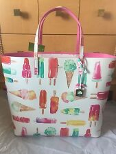 Kate Spade Flavor Of The Month Ice Cream Pop Popsicles Large Len Tote Bag NWT