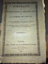 PORTRAITS Des PRINCIPAUX ORATEURS DE LA CHAMBRE DES DÉPUTÉS 1820