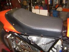 Harley XR750 Seat Cover and Pad , correct early snap-on style, black basketweave