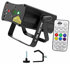 American DJ Micro 3D II Mini Red+Green Laser Club Stage FX Light+Clamp ADJ