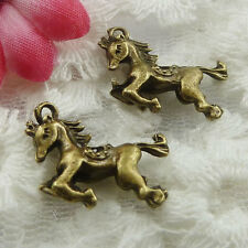 Free Ship 120 pieces bronze plated horse charms 22x15mm #643