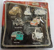 7 DISNEY PINS STAR WARS CARS UNOPENED NEW CARD