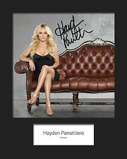 HAYDEN PANETTIERE #4 Signed Photo Print 10x8 Mounted Photo Print