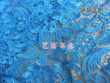 G15 turquoise Guipure Lace bridal lace 120cm wide-Sold  by 1/2 yard