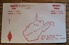 VINTAGE AMATEUR TWO WAY RADIO QSL CARD ~ MT. MORRIS PA. ~ SEE OUR OTHER CARDS ~