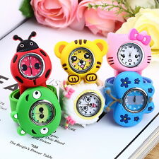 Fashion Animal Slap Snap On Silicone Wrist Watch Boys Girls Children Kids
