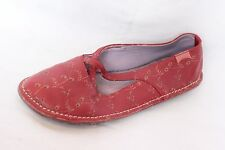 Camper Red Floral Leather Flats Mocs Women's 36 / US 5.5-6