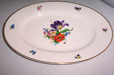"CM HUTSCHENREUTHER CHINA  # 02302 ?  MULTIMOTIF FLORAL 14 1/4"" OVAL PLATTER"