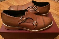 NEW To Boot New York Made in Italy Brown 'Strand' Double Monk Strap Mens 8 $350