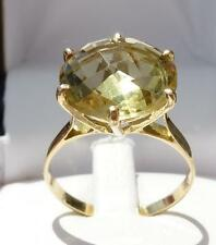 bague ancienne belle citrine jaune or 18 carats ring gold 18k citrine french