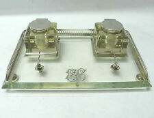Victorian Silver and Crystal Inkstand 1895 John Grinsell & Sons stock id 7394