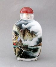 CHINESE INSIDE HAND PAINTED Landscape Double Faces SNUFF BOTTLE