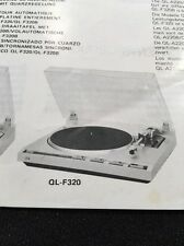 JVC QL-A220 Turntable Original Owners Manual also QL-F320 Multi Language