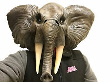 African Elephant Animal Mask Overhead Latex Safari Fancy Dress Costume Masks