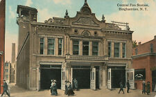 Binghamton NY * Central Fire Station 1913 *  Fire Department