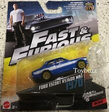 HOT WHEELS 1:55 FAST & FURIOUS 2017 BRIAN FORD ESCORT RS1600 MK1 1970 NEW