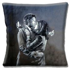 "NEW Banksy Graffiti Artist Mobile Lovers Modern Love  16"" Pillow Cushion Cover"