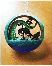 Curiology Layered Diorama Necklace Deep Blue Sea Monster Boat Ocean Nautical