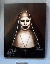THE CONJURING 2 DEMON NUN VALAK PAINTING SIGNED Annabelle 2 Wan Horror Movie coa