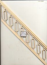 """Staircase Hand Railing fits steps # 893 for 9"""" Ceiling   1/12 scale Stairs USA"""