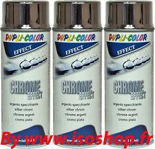 Chrome Spray 3x400ml couleur Argent Chromé Pulvérisation Chrome Peinture rénove