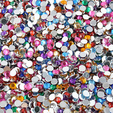 2000pcs Women Decoration 3D Acrylic Nail Art Tips Gems Crystal DIY Rhinestones