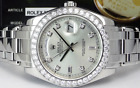 ROLEX - Men's 39mm Platinum Masterpiece Silver Diamond - 18946 SANT BLANC