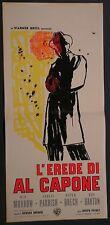 Locandina L'EREDE DI AL CAPONE 1961  VIC MORROW -  POLIZIESCO - WARNER BROS