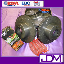 HOLDEN HD, HR (1965-1967) - RDA SLOTTED Front Brake Discs & REDSTUFF Pads