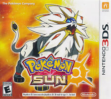 Pokemon Sun Nintendo 3DS Game NEW (US version NTSC, Multi-Language) IN STOCK NOW