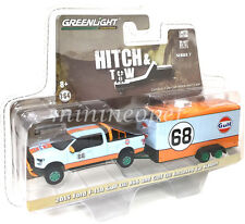 GREENLIGHT 32070 B 2016 FORD F-150 & TRAILER GULF 1/64 #68 CHASE GREEN MACHINE