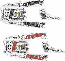 POLARIS RUSH PRO  ASSAULT 120 144 155 163 TANK & TOP TUNNEL DECAL splatter w
