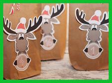DIY Adventskalender ELCH braun mit 24 Geschenktüten braun