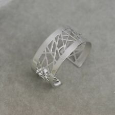 Nice lia sophia signed jewelry  silver plated polish wide cuff bracelet Bangle