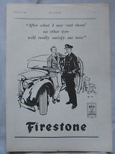 1945 Firestone Tyres Original advert