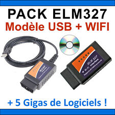 ★ EXCLUSIVITE ★ PACK DIAGNOSTIQUE MULTIMARQUES OBD2 - ELM327 USB + ELM 327 WIFI
