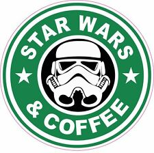 Star Wars And Coffee Starbucks Vinyl Sticker Decal