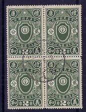 China 1936 New Life 2c in a very fine used block x 4