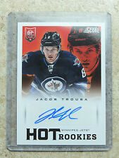 13-14 Panini Score Hot Rookies #698 SSP Autograph RC Rookie JACOB TROUBA