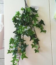 Artificial Flower Ivy Trail Bush Leaves Green - 48cm Hanging Basket Garden