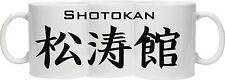 SHOTOKAN MUG - Shotokan in Japanese Kanji (characters) PRINTED AROUND THE MUG
