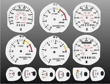 1983-1986 Ford Mustang Dash Cluster White Face Gauges 83-86 5.0 SVO